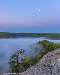 Dawn at Mill Creek lake, (Ulrich Burkhalter) Tags: fog sunrise spring moonrise redrivergorge rrg foggymorning nbsp backpackimg millcreeklake whittletonridgewest imgp27182pedited1