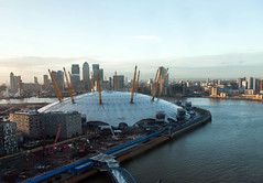 The O2 (Andrew Mawby) Tags: london thames greenwich o2 canarywharf milleniumdome emiratesairline