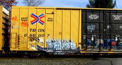sworne (timetomakethepasta) Tags: train one graffiti case boxcar freight mehow tbox ttx rfm seka sworne