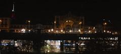 Praha hlavn ndra - Central rail station at night (Yurimi) Tags: prague praha centralrailwaystation hlavnndra