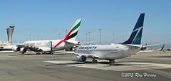 San Francisco International Airport (320-ROC) Tags: sanfrancisco sfo emirates airbus a380 boeing westjet 737 sanfranciscointernationalairport 737800 airbusa380 ksfo sanfranciscoairport boeing737800 boeing737 b738 a380800 airbusa380800 a388 7378ct airbusa380861 a380861 boeing7378ct a6eeu cgwbu