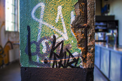 Zuil (v_rijswijk) Tags: street old urban colour abandoned colors photography colorful industrial factory colours colorfull urbanart urbano colourful roermond urbanphotography urbex urbanstreets urbanwalls