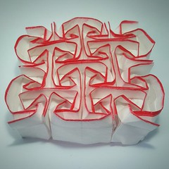 Crystal rose (modular.dodecahedron) Tags: watercolourpencil origamitessellation toshikazukawasaki squaregrid