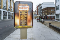 14.43, London (Ti.mo) Tags: england london pee warning advertising poster drink january police gb safe hackney welcome noise fabulous f25 25mm 2016 iso250 0ev  secatf25 e25mmf2 middletonroadkingslandrdstopkh