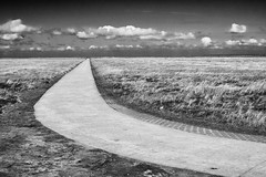 Road to nowhere (Komaalex) Tags: road bw white black st clouds way landscape country samsung peter northsea f56 landschaft nordsee jever landleben ording nx10