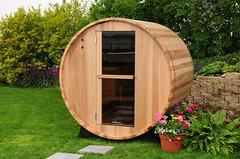 sauna de barril jardín venta
