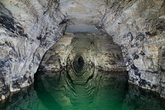 Reflets (flallier) Tags: lake water reflections underground eau gaz lac gypsum reflexions reflets quarry reflects co2 carrire souterraine gypse asphyxie pilierstourns