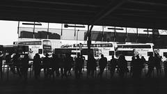 waiting (mohamedyamin_masop) Tags: street city people urban bus transport highcontrast stop gr ricoh terminus
