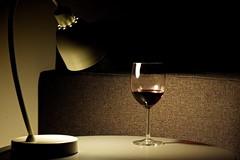 Red red wine (Kai Beinert) Tags: stilllife stilleben wine wein inddor home art dark glas room gemütlich