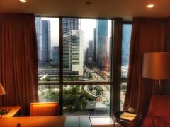 View of Ritz-Carlton Shenzhen from the Four Seasons. (shinnygogo) Tags: china urban hotel shenzhen citycenter hdr futian