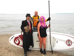 Dr. Takeshi Yamada and Seara (Coney Island Sea Rabbit) at the winter swimming event by the Coney Island Polar Bear Club at the Coney Island Beach in Brooklyn, New York on January 17 (Sun), 2015.  mermaid & merman.  20160117Sun DSCN3473=5040pC1. Kim (searabbits23) Tags: winter ny newyork sexy celebrity art beach fashion animal brooklyn asian coneyisland japanese star yahoo costume tv google king artist dragon god cosplay manhattan wildlife famous gothic goth performance pop taxidermy cnn tuxedo bikini tophat unitednations playboy entertainer samurai genius donaldtrump mermaid amc mardigras salvadordali billclinton hillaryclinton billgates aol vangogh curiosities bing sideshow jeffkoons globalwarming takashimurakami pablopicasso steampunk damienhirst cryptozoology freakshow barackobama polarbearclub seara immortalized takeshiyamada museumofworldwonders roguetaxidermy searabbit ladygaga climategate