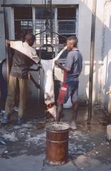 Namibia 2002 (patrikmloeff) Tags: world voyage africa travel school 2002 boy boys analog pig reisen minolta earth african kinder adventure afrika analogue traveling monde namibia schwein schule reise afrique welt erde namibian southernafrica schlachthof internat rundu schlachten abenteuer knaben afrikanisch ausnehmen sdlichesafrika africanwinter namibisch afrikanischerwinter