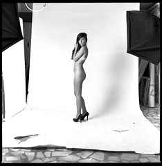 - (Niccol Barone (formerly known as Barenik)) Tags: 120 6x6 film zeiss studio nude photography tmax top award hasselblad heels medium format prize f28 planar xtol 80mm