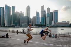 Jump3! (TSE_J) Tags: travel bridge marina bay singapore study abroad helix sands merlion