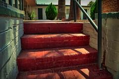 StumblingUp (Topher0806) Tags: arizona brick texture stairs entropy nikon tucson perspective lightshadow miraclemile terracemotel d5100