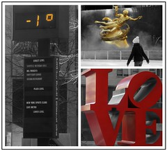Coldest NYC Valentine's Day (mockba1_1999) Tags: newyorkcity cold love weather collage holidays rockefellercenter temperature frigid valentinesday 1f selectivecoloring steamfog