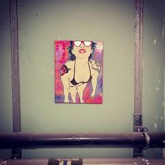 Secret Free Art Friday (id-iom) Tags: uk streetart london cool stencil canvas urbanart freeart secretart freeartfriday colossalartdwarves