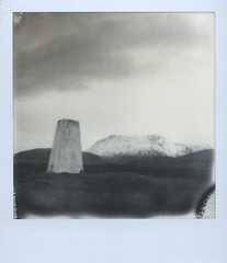 Ben Nevis from Druim na h-Earba (Mark Rowell) Tags: film polaroid sx70 scotland highlands bennevis instant fortwilliam druimnahearba