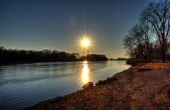 February Sunset over the Illinois (kendoman26) Tags: sunset nikon sunburst hdr illinoisriver photomatix morrisillinois enjoyillinois nikond3300 travelillinois strattonstatepark nikon1855afs3556