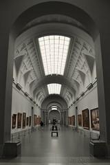 En el Museo del Prado (j. kunst) Tags: madrid espaa museum architecture painting spain room skylight symmetry spanish symmetrical prado visitor neoclassicism neoclassical villanueva recoloured  museodelprado neoclassicist  juandevillanueva