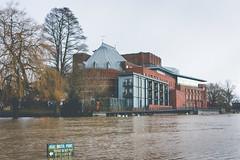 Royal Shakespeare Company (Sam Allard Photography) Tags: uk winter sunset england river landscape flood theatre holy trinity february avon warwickshire stratford upon midlands rsc