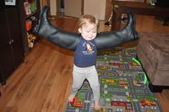 """""""I'm an Eagle!"""" (KaseyEriksen) Tags: boy silly boys smile fun happy fly funny play eagle boots run grandson wyatt"""