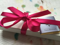Wrapped Up (opal c) Tags: seattle ribbons redribbon frans familyvisit handpicked truffles wrappedup franschocolates
