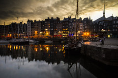 """reflected darkness starts to fall on the old harbour (Vieux Bassin) on a summer evening, Honfleur, Normandy, France (grumpybaldprof) Tags: old longexposure sky bw france colour reflection monument water stone architecture clouds contrast port marina buildings reflections boats lights town ancient bars sailing moody harbour ships sails restaurants peaceful stack historic landing deck filter mooring boardwalk normandie honfleur yachts picturesque masts normandy quai tranquil halftimbered density neutral neutraldensity collombage quarantaine """"quaistecatherine"""" """"lalieutenance"""" """"oldharbour"""" """"vieuxbassin"""" """"quaiquarantaine """"stecatherine"""""""