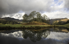 Elterwater (Malajusted1) Tags: trees england mountain clouds reflections river little great national cumbria fells trust pikes lakeland ambleside thelakes langdale elterwater brathay