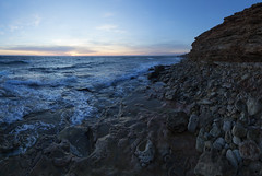 (AndreyRyskin) Tags: winter light sea storm history beach colors evening coast rocks surf waves wind stones patterns magic cape symbols beacon decline sevastopol crimea blacksea                       capechersonese gerakley
