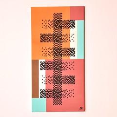 Abstract pattern  30x60cm  Collezione privata (.krayon) Tags: art artwork gallery abstractart pixel pixelart gradient krayon customcanvas
