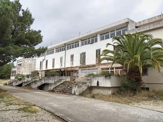 Le bâtiment principal du centre pour enfants réfugiés