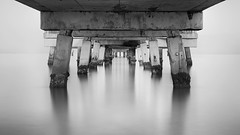 Under the Pier Early (josesuro) Tags: longexposure beach digital sunrise landscapes tampabay florida piers fineart ftdesoto 2016 afnikkor50mmf18d leebigstopper jaspcphotography nikond750