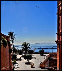 Bastione (- Fabrizio -) Tags: sardegna city sea sky italy panorama bird italia cielo cagliari bastione sanremy