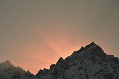 Sunrise over mountain edge (draskd) Tags: morning sunrise shimla sunrays kinnaur kalpa shivling mtkinnerkailash kinnershivling kinnerkailashpeak