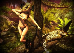 Welcome to the Jungle (eloen.maerdrym) Tags: wild sexy truth or selva fair tribal leopard fantasy jungle lance bones products dare jaguar archer bf whimsical slave spear savage lorien gor challis gorean mfgc rackposes 7deadlys{k}ins poshtale eloensotherworld