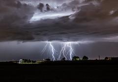 CG lightnings. (Tornadoseeker.com) Tags: cloud storm weather thunderstorm lightning severe temporale fulmine