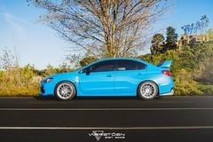 2015 Hyper Blue Subaru WRX STI Varrstoen MK8 (khangnhunguyen) Tags: blue sunset cars beach nature photography dusk dunes wheels newport subaru hyper rims wrx sti varrstoen varrstoenwheels