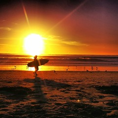 Sunset surf sesh (wren.beth) Tags: ocean sunset summer beautiful surf surfer carlsbad perfection surfergirl