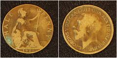 1923 George V Half Penny piece (fstop186) Tags: macro closeup coin olympus historic penny half piece damaged rare collectable 1923 em1 halfpenny georgev onehalf 11ratio olympusmzuikoed60mmf28macro batteredworn