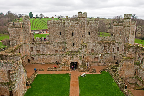 Bodiam Castle inner court from the Postern Tower