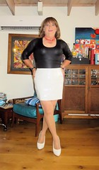 White Skirt (Trixy Deans) Tags: hot cute sexy classic tv highheels cd crossdressing tgirl heels corset transgendered crossdresser crossdress shortskirts sexylegs transsexual classy shemale shortskirt sexyblonde shemales xdresser sexyheels crossdresse trixydeans sexytransvestite