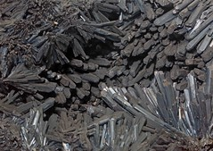 Stibnite (Ron Wolf) Tags: nature crystal nevada mineral geology ore prismatic earthscience stibnite mineralogy acicular orthorhombic