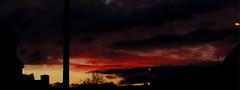 Martian Dusk (Alan FEO2) Tags: uk sunset red england sky storm crimson clouds outdoors stormy panasonic stokeontrent g1 imagination dmc martians hgwells bloodred thewaroftheworlds shepherdsdelight 2oef