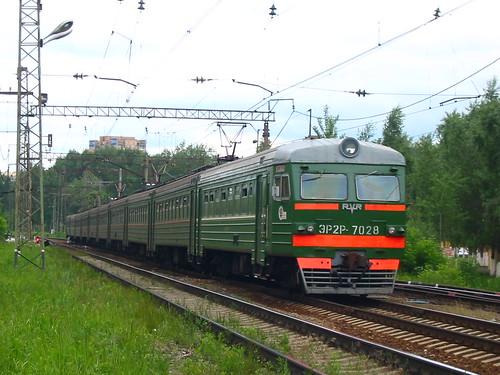 RZD ER2R-7028. Savelovskoe direction, Dmitrov.