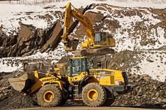 Working From The Side (thetrick113) Tags: yellow machine equipment heavyequipment loader crush hdr komatsu processor excavator frontendloader shale rockcrusher wheelloader jawcrusher wa380 sonyslta65v pc360 komatsuwa380loader pc360jg 380jg komatsu380jgrockcrusher komatsupc360jgexcavator