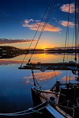 Norway (Vest der ute) Tags: sea seascape norway clouds sunrise reflections boat fav25 fav200 g7x