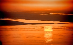 GOODNIGHT SWEETHEART,  IT'S TIME TO GO (Irene2727) Tags: light sunset orange sun seascape color nature landscape outdoor scape waterscape endofday netartsbay spitofland