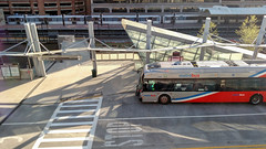 Bus and train (Tim Brown's Pictures) Tags: bus train subway metro depot crosswalk metrostation metrobus metrotrain kissnride
