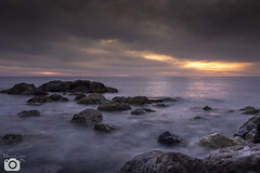 San Lucido (mario.cairo88) Tags: ocean light sunset sea cloud seascape water rock clouds canon landscape eos gold golden long exposure mare waves hour paesaggi paesaggio sanlucido 700d